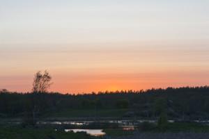 solnedgång över Maren