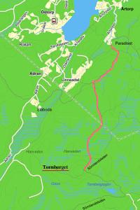 väg till Tornberget från Paradiset