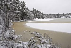 Årsjön, vinter